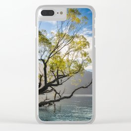 Beautiful Morning Light at Wilson Bay, New Zealand Clear iPhone Case