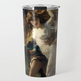 The Storm By Pierre Auguste Cot Travel Mug