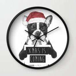 Xmas is coming Wall Clock
