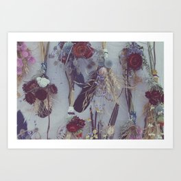 Wildflower and Feather Bundles Art Print
