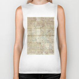 Map of Yellowstone National Park (1886) Biker Tank
