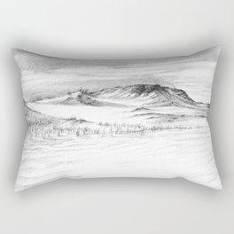 Beach Sand Dunes - Drawing Rectangular Pillow