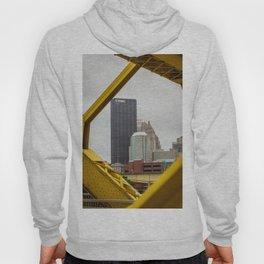 Pittsburgh City Skyline Architecture Bridge Print Hoody