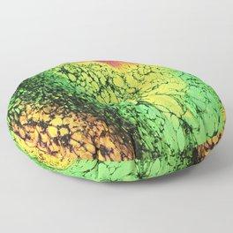 Emerald Placer Fluid Art Floor Pillow