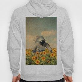 Astronaut Sunflower Art Hoody