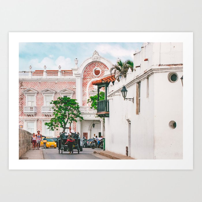 Street Scene, Cartagena Fine Art Print  • Travel Photography • Wall Art Art Print