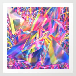 Crystal Candy Art Print