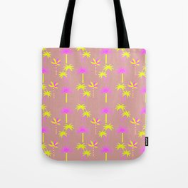 Palm Trees - Neutral & Neon Tote Bag