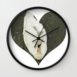 Mother Swan II Wall Clock