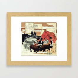 with roses spread Framed Art Print