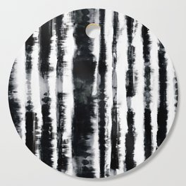 Tie-Dye Shibori Stripe BW Cutting Board