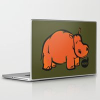 hippo Laptop & iPad Skins featuring Hippo by ILINDESIGNS