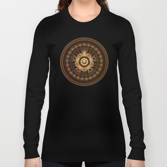 Gathering the Five Fractal Colors of Magic Long Sleeve T-shirt