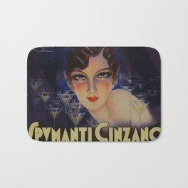 Spectacular Vintage 1933 Cinzano Advertisement by Plinio Codognato Bath Mat