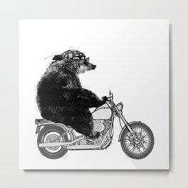 Harley Bear Metal Print