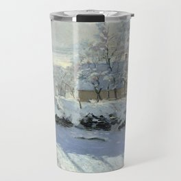 The Magpie by Claude Monet Travel Mug