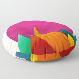067 - Autumn sunrise Floor Pillow