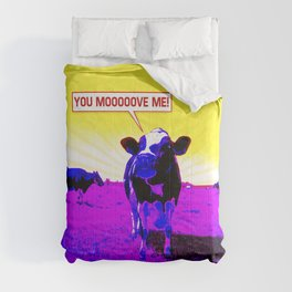 Psychedelic Cows Comforters