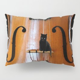 Black Cat And Violin #decor #society6 Pillow Sham