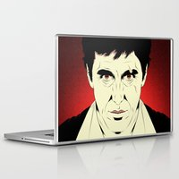 scarface Laptop & iPad Skins featuring Scarface by Renan Lacerda