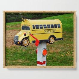 School Bus Mailbox Serving Tray