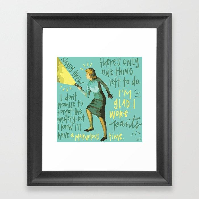 Nancy Drew. Gerahmter Kunstdruck