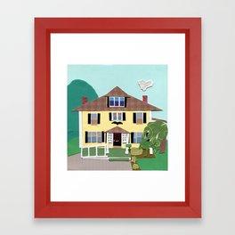 The house on Hillside Ave Framed Art Print