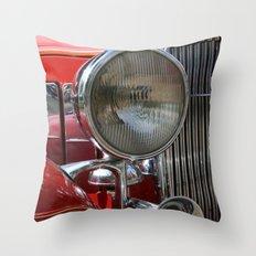 Vintage Car Headlight & Horn Throw Pillow