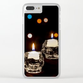 Holiday Candles Clear iPhone Case