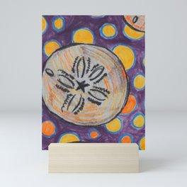 polka dots and Sand dollar Mini Art Print