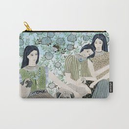 Girls With Pugs Among Roses Carry-All Pouch