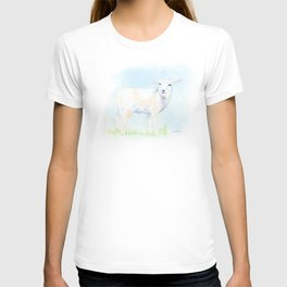 Lamb in the Pasture Watercolor T-shirt