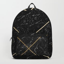 Gold & Black Marble 01 Backpack