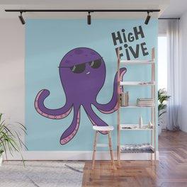 High Five Octopus Wall Mural