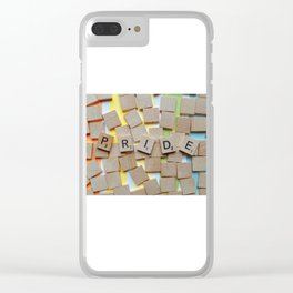 LGBT Pride Tiles Clear iPhone Case