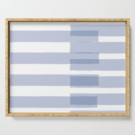 Big Stripes in Light Blue Serving Tray