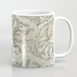 Vintage Map of Mount Everest (1921) Coffee Mug