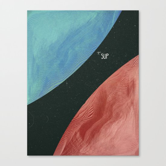 Earth collides with mars Canvas Print