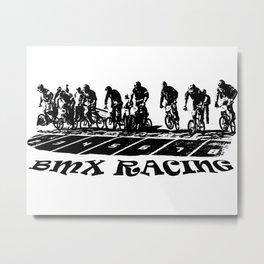 bmx race Metal Print