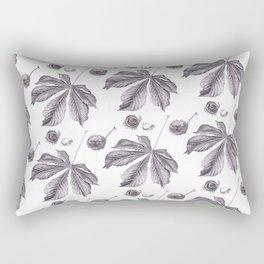 Floral pattern horse-chestnut Rectangular Pillow