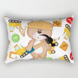 Construction Bear Hammer Rectangular Pillow