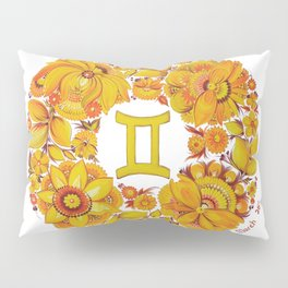 Gemini in Petrykivka style (with signature) Pillow Sham
