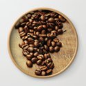 Coffee beans on wooden background by klenova