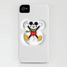 Snow Mickey Slim Case iPhone (4, 4s)