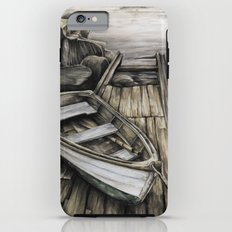 Old Boat on the Dock iPhone 6 Plus Tough Case