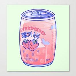 Strawberry Rain Canvas Print