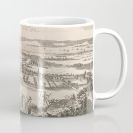 Vintage Pictorial Map of Edinburgh Scotland (1760) Coffee Mug