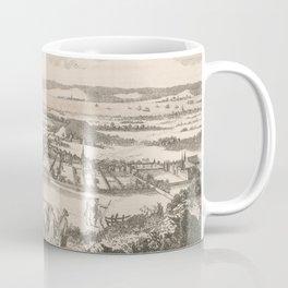 Vintage Pictorial Map of Edinburgh Scotland (1760) Coffee Mug