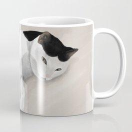 Sleepy Spotted Kitty Cat Coffee Mug