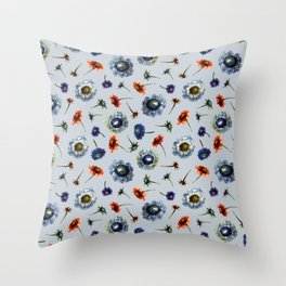 Scabiosa floral pattern 2 Throw Pillow